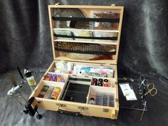 Amazon.com : Tie-Anywhere Portable Fly Tying Box Bench Station : Fly Tying Equipment : Sports & Outdoors