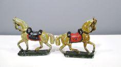 2 Vintage Cast Iron Horse Toys  Painted by UrbanRenewalDesigns, $22.00