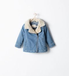ZARA - KIDS - DENIM AND SHEEPSKIN JACKET