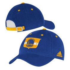 326906aa2ab Golden State Warriors adidas Team Logo Crest Adjustable Slouch Cap - Royal Golden  State Warriors