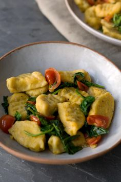 This is a Squash Gnocchi recipe from our Great Vegan Bake Off winners ,remember the Chocolate Beetroot Cake ? I