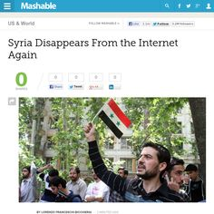http://mashable.com/2013/05/07/syria-goes-offline-again/ Syria Disappears From the Internet Again | #Indiegogo #fundraising http://igg.me/at/tn5/