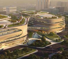 Hospital Architecture, Green Architecture, Concept Architecture, Futuristic Architecture, Sustainable Architecture, Amazing Architecture, Architecture Details, Biophilic Architecture, Urban Design Concept