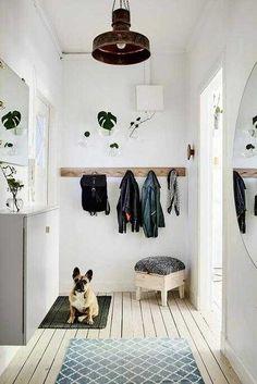 Hallway Ideas Entrance Narrow, Modern Hallway, Long Hallway, Small Hallways, New Room, Fixer Upper, Sweet Home, Kids Rugs, Flooring