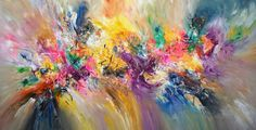 """Abstract, large painting. Original artwork on canvas. Title:""""Incredible L 2"""", Peter Nottrott"""