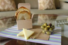 Our welcome amenity always changes, but this one sure was delicious. Cheese, olives and bagel crisps.
