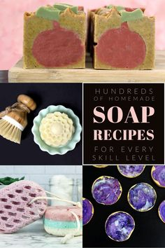 Learn how to make soap with this collection of homemade soap recipes for beginners to advanced soap making techniques. Fun soap crafts and soap projects to craft for your family and friends as DIY gifts. Or crafts to make and sell on Etsy, online and at farmers markets and craft fairs to make money. Hundreds of soap tutorial and homemade soap recipes for melt and pour soap recipes, cold process soap recipes, rebatch soap recipes, hand milled soap recipes and soap making tips and tricks. #soap