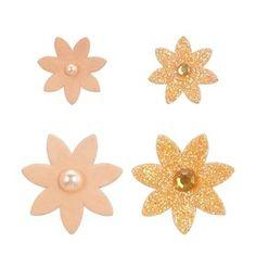 Gem Flowers - Orange, Pack of 32 Craft Supplies Online, Art Supplies, Buy Art, Arts And Crafts, Gems, Flowers, Diy, Orange, Room