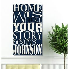 Canvas Shopping Tote Bag Home Where Our Story Begins Entryway Home Beach for Women Housewarming Gift