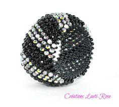 Beaded bangle women bracelet Women bracelet by CreationsLaetiRose