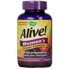 Nature's Way Alive! Women's Energy Gummy Multi-Vitamins (75 Chewables)