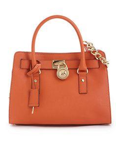 MICHAEL Michael Kors Handbag, Hamilton Saffiano Leather Satchel - Satchels - Handbags & Accessories - Macy's $298.00 I want this bag