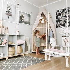Home Decoration; Home Design; Little Girls; Home Storage;Table setting; Home Furniture; Wall Decoration;Kids Room Source by Cool Kids Rooms, Dressing Room Design, Childrens Beds, Kids Room Design, Little Girl Rooms, Girls Bedroom, Ikea Girls Room, Girls Room Wall Decor, Room Girls