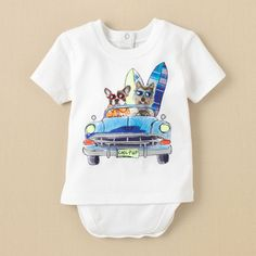 newborn - boys - 2-in-1 dog car tee bodysuit | Childrens Clothing | Kids Clothes | The Childrens Place