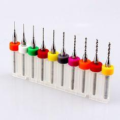 ホット10ピース0.3-1.2ミリメートルpcbプリント回路基板超硬マイクロドリルビットツールセット