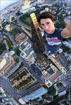 #Photographer Reaches Terrifyingly High Places to Take #Selfies