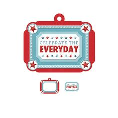 We R Memory Keepers - Red White and Blue Collection - Embossed Tags - Mini Frames - Celebrate Everyday at Scrapbook.com $0.99