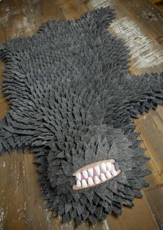 Monster Rug - @Rosalyn Mok Mok Dunn Smith this reminds me of your baby shower theme!