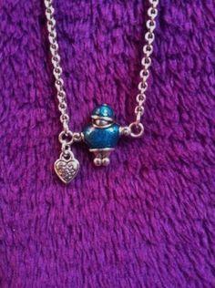 BRIGHTON Silver Tone Charm Pendent Necklace Hearts & Figurine  #Brighton #Pendant