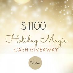 $1100 Holiday Magic Cash Giveaway! - Dimple Prints