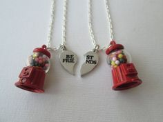 2 Gumball Machine Best Friends Necklaces by HazelSarai on Etsy, $28.00