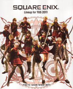 Square Enix, Final Fantasy Type-0, Ace (Final Fantasy Type-0), Cinque (Final Fantasy Type-0), King (Final Fantasy Type-0)