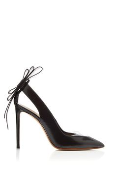 Black Leather and Clear PVC Origami Back Bow Pointed Toe Pump by Nicholas  Kirkwood - Moda 5d4efb47c5