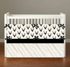 Black Buck Crib Bedding Buck Nursery Decor Deer Nursery Decor
