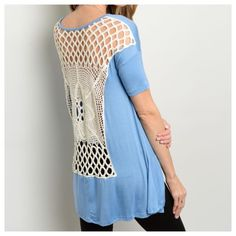 ARRIVING SOON!!! Crochet Back Top Should arrive Saturday, 9/14. More detail to come soon! Tops Tees - Short Sleeve