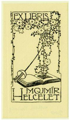 Ex libris Mojmír Helcelet by Preissig Vojtěch