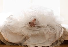 Dirty feet and a tulle skirt.