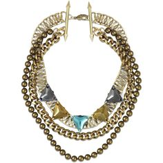 Fenton Kempner Triple Necklace ($525) ❤ liked on Polyvore