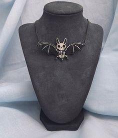 Bat Skeleton Necklace