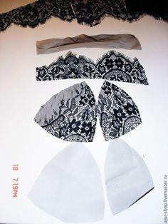 Часть первая. Пошив бюстгальтера из кружева шантильи на косточках с мягкой чашкой. Мастер-класс по пошиву комплекта белья из мягких кружев шантильи.