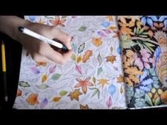 Secret Garden Coloring Book | SO many leaves | Jardim Secreto - YouTube