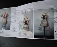 Fashion Sketchbook developing the final piece