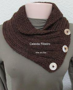 Celeida Ribeiro: Gola de tricô!