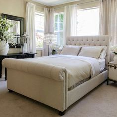 Tribeca Roll Sleigh Bed