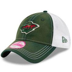 Women's New Era Green Minnesota Wild Spirited Trucker 9TWENTY Adjustable Hat