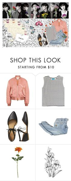 """""""Butterfly - BTS"""" by karla-jhoana ❤ liked on Polyvore featuring Acne Studios, M.i.h Jeans, Gap, Balmain and Crate and Barrel"""