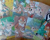 Cadeau envelopjes gemaakt van Disney boek, Stampertje, 11 stuks, 7,5 x 11 cm