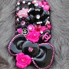 Custom Made iphone 5 Rhinestone bling case Luxury by DemiGoddessCo, $59.00