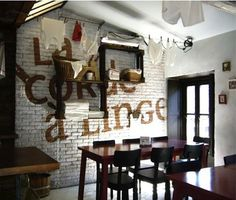 "La Corde a Linge French Restaurant - Strasbourg -interiors and graphics by Lyon-based ""My Beautiful"""