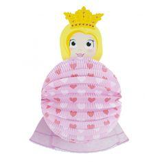 Lampion prinses 22 cm. Papieren bollampion in prinsessen uitvoering. De lampion is niet brandvertragend.