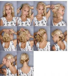 Tuto coiffure tresse + chignon dans coiffure, cheveux 480210_362197730524292_1724401051_n