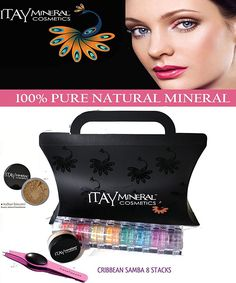 Itay Beauty 8 Stack 'Caribbean Samba' Eye Shadow Shimmer  Trend Purple G3 LED Stainless Steel Tweezers  Sample Size Mineral Itay Foundation MF-7 Italian Biscotti -- Be sure to check out this awesome product.