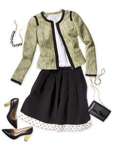 Outfit with skirt and jacket