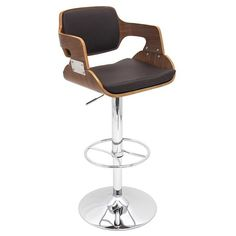 LumiSource BS-JY-FR WAL+BN Fiore Bar Stool