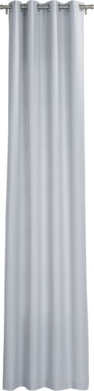 "basketweave silver grey curtain panel 48""x120"""