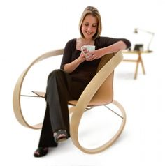 Katie Walker is a graduate of London's Royal College of Art .where she developed her approach of combining fine art and sculpture with practical furniture design, the results of which have now become highly collectable. She won the 2006 Wood Awards and the 2007 Grand Designs 'Product of the Year' Award for her iconic Ribbon Rocking Chair.
